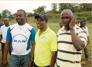 Mr. Moses Armah (right) wants to transform the team into continental