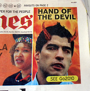'Hand of the Devil' Suarez taunts Ghana and Africans over handball