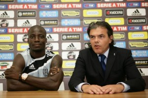 Appiah to start for Cesena against Roma