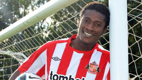 Video: Gyan relishing Mensah reunion at Sunderland