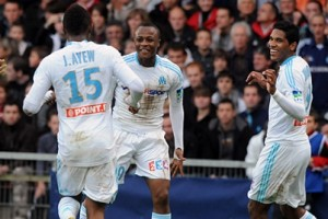 Watch video of Ayew brothers Andre and Jordan combining effectively to hand French League Cup holders Marseille a 1-0 win at Guingamp on Wednesday.