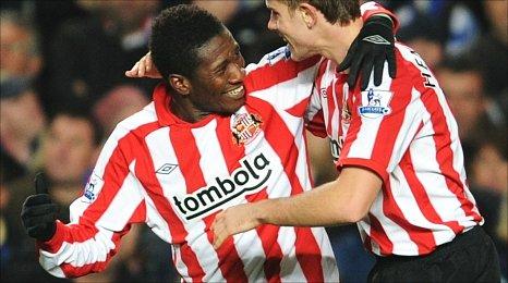 Asamoah Gyan shocks Chelsea at Stamford Bridge