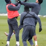 Pictures: Watch pictures of Balotelli and Boateng fighting