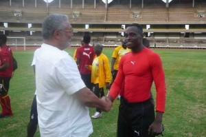 Pictures: Ex-President Rawlings visit Ghana training in Nairobi