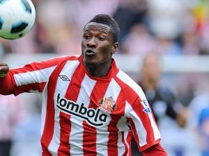 Asamoah Gyan dismisses Sunderland exit report