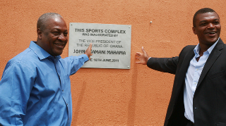 Vice Prez Mahama tours Desailly's Lizzy Sports Complex