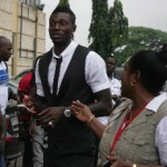 pictures: Adebayor commissions water projects in Ghana