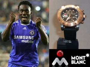 Michael Essien unveils MontBlanc watches to raise funds for foundation
