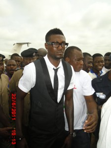 Adebayor considers helping out in Hearts' centenary celebrations