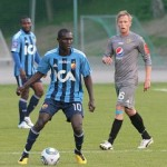 Striker Fiamenyo scores on Djurgarden trial