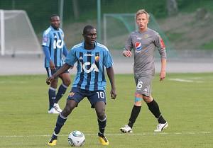 Striker Fiamenyo scores on Djurgarden trial