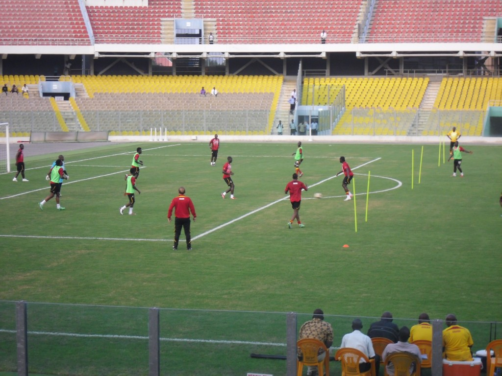 Black Stars hold first training session
