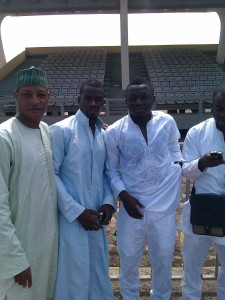 Ghana midfielder Sulley Muntari celebrated the Islamic Eid festival in grand style yesterday when he joined the leader of Muslims in Ghana during prayers at Independence Square.