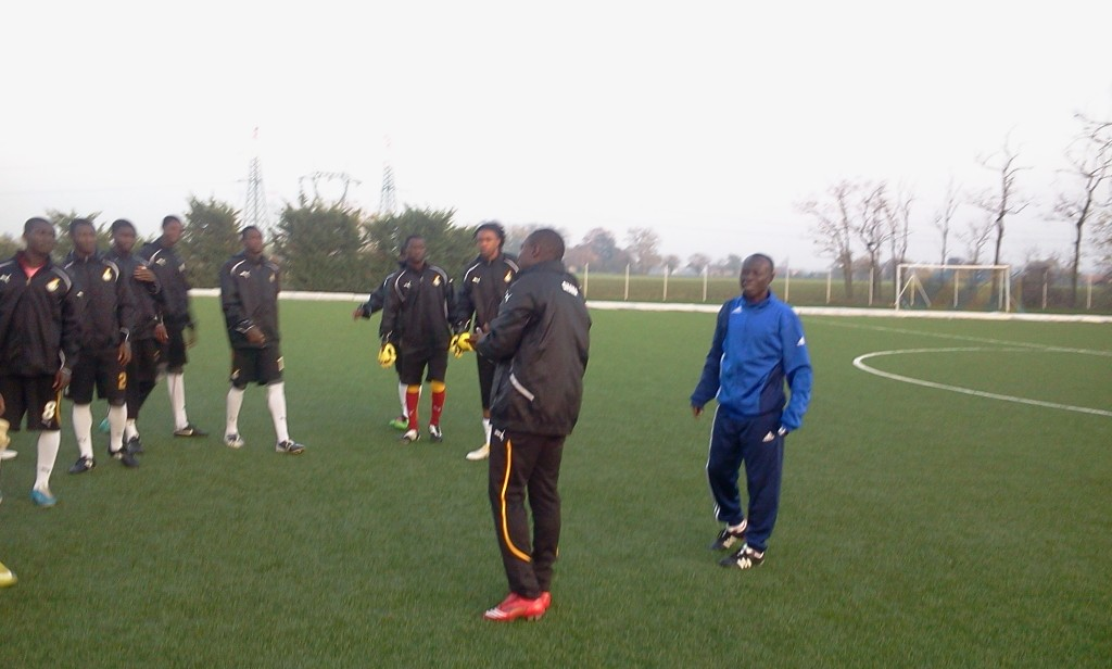 Pictures: Ghana U20 team arrive in Parma