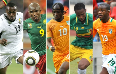 Ghana midfielder Andre Dede Ayew is among the five candidates for the 2011 BBC African Footballer.