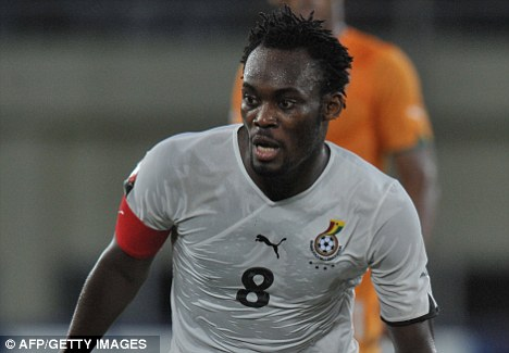 Essien left out of Ghana squad as he battles back from knee injury