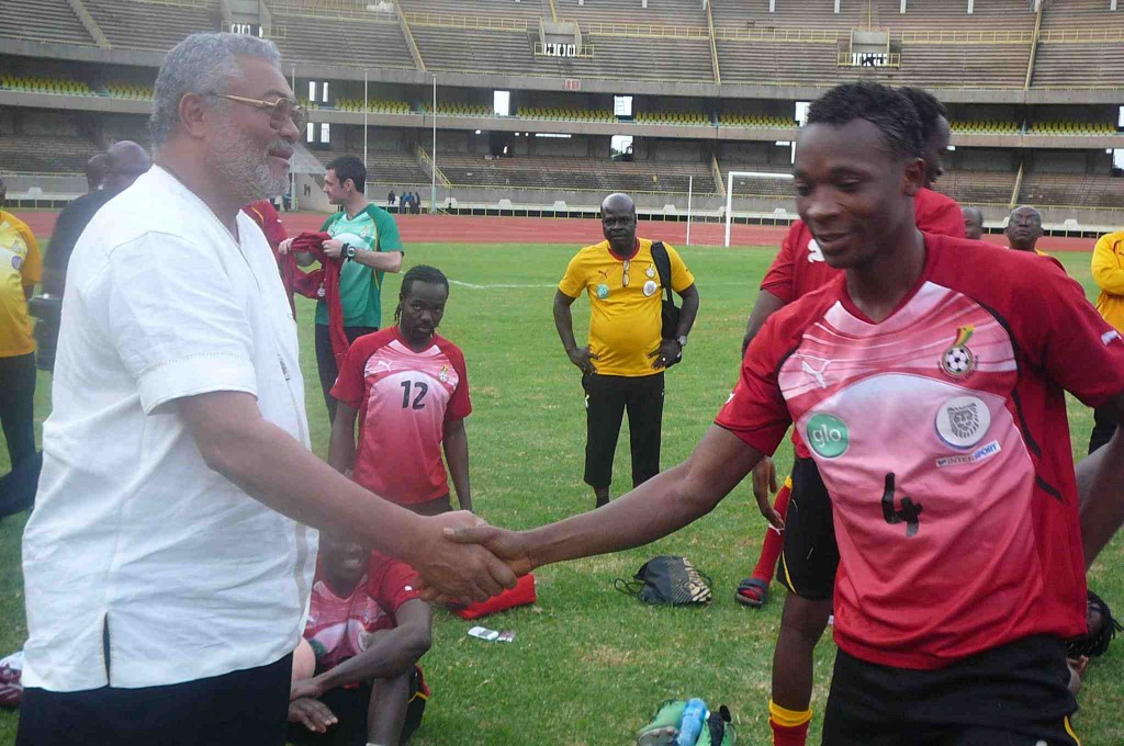 Ex Ghana President Rawlings banking on team spirit for AFCON victory