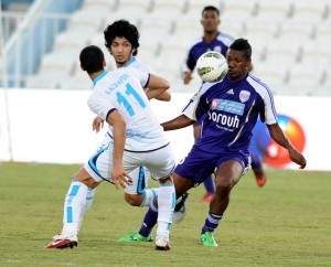 Watch video of Asamoah Gyan of Al Ain scoring two goals against UAE champions Al Jazira in the top-of-the-table clash on Thursday.