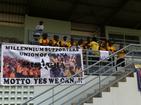 Video: Supporters cheering Black Stars in training