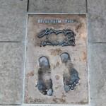 Abedi Pele footprints on the Monte Carlo Promenade