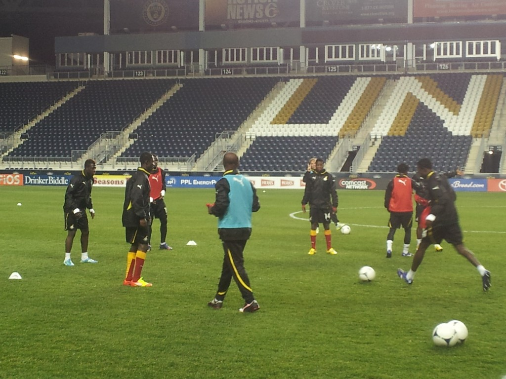 Pictures: Black Stars training ahead of Chile clash