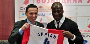 Stephen Appiah unveiled as Vojvodina player in Serbia