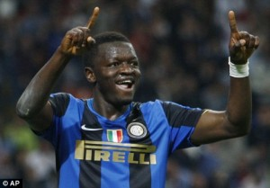 Ghana midfielder Sulley Muntari has been talking about his shock move to AC Milan from city rivals Inter Milan.