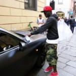 Exclusive Pictures: Muntari slapped with fine for bad parking in unique car
