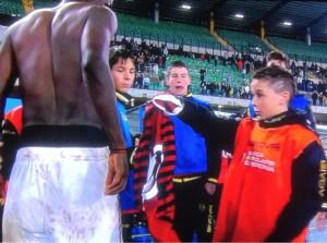 Chievo ball boy initially refused Muntari shirt due to club policy