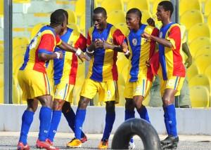 Hearts thump Wassaman, Dwarfs shock Arsenal