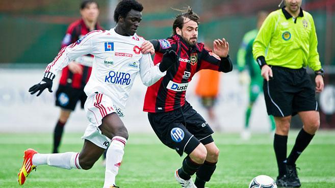 Kwame Karikari scores for Degerfors in Sweden