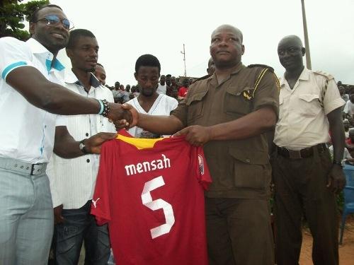 Pictures: Ghana captain Mensah at Nsawam prison