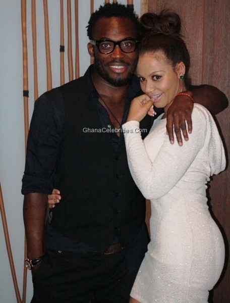 Essien and Nadia Buari announced the return of their romance earlier this week with some passionate kisses at a birthday party held at Villaggio Primavera.