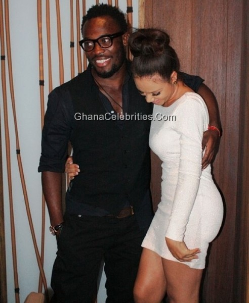 Michael Essien and Nadia Buari announced the return of their romance earlier this week with some passionate kisses at a birthday party held at Villaggio Primavera.