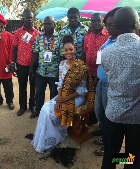Sulley Muntari's wife now 'Development Queen' in Ghana