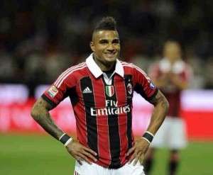 Ghanaian midfielder Kevin Prince Boateng was sent off as AC Milan's season slumped to a new low on Sunday as lost 2-1 at Udinese on Sunday.