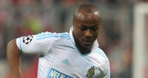Andre Ayew will be action for Marseille when they take on PSG on Sunday