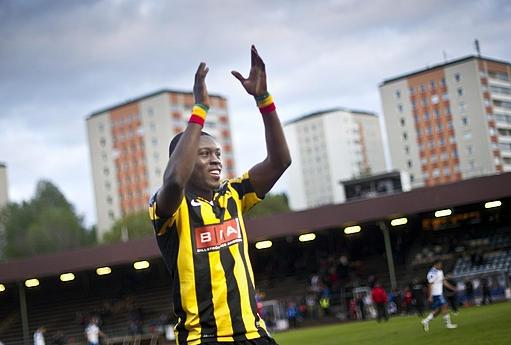 Ghana striker Waris wins Swedish league's Player of the Season award