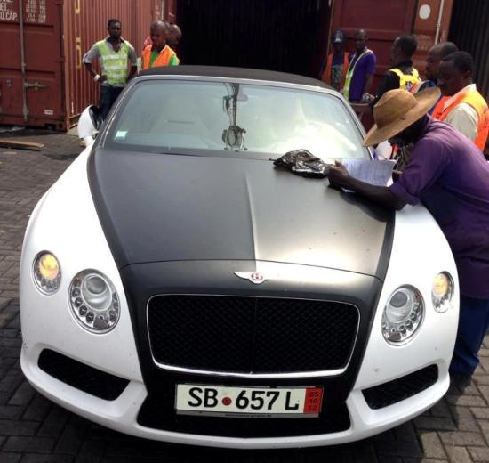 Exclusive Andre Ayews Brand New Bentley Arrives In Ghana - Show me a bentley car