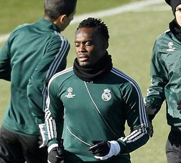 Essien returns to full scale training with Real Madrid