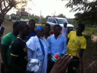 Pictures: Yusif Chibsah donates to Kotoko and King Faisal