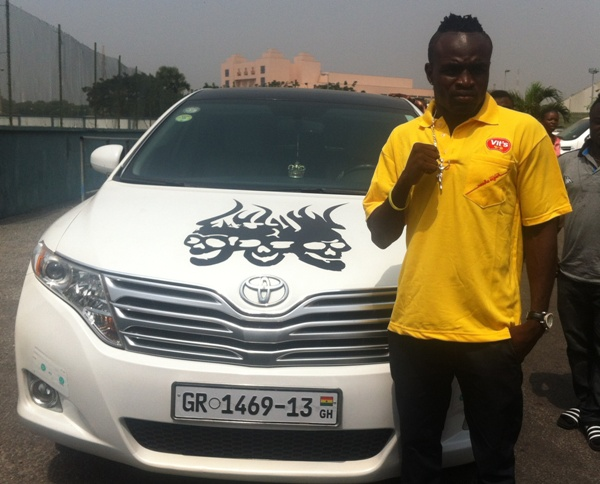 photo of Asamoah Gyan Toyota Camry - car
