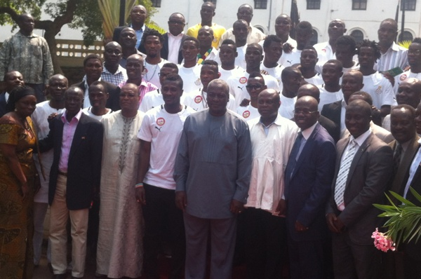 Ghana President Mahama charges Black Stars to win 2013 Nations Cup