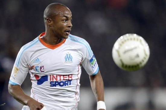 Andre Ayew recovers to start for Marseille at Sochaux