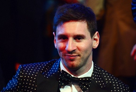 Ghana voted Lionel Messi for 2012 FIFA Ballon D'Or gong