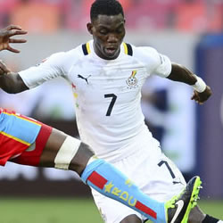 Ghana coach named talented youngster Christian Atsu in his starting line-up to replace Mubarak Wakaso in Monday's Group B Africa Cup of Nations match against Niger.