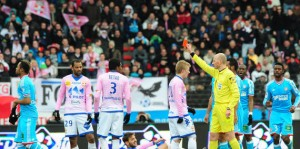Marseille's Jordan Ayew set a new French Ligue 1 record for quickest sending off after coming on and may well find himself in the Guinness Book of Records.