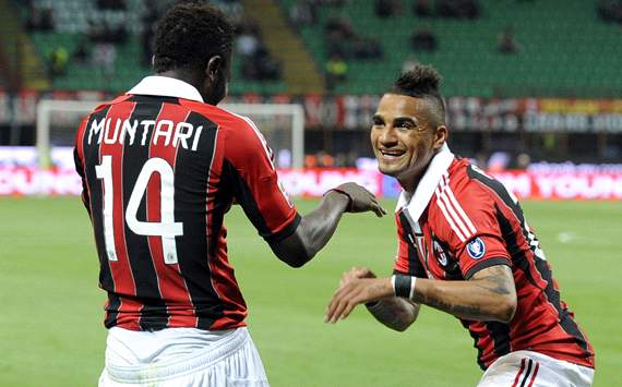 Muntari and Boateng make Milan's starting line up to face Barcelona