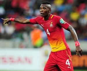 Ghana defender John Pantsil is doubtful for next month's 2014 World Cup qualifier against Sudan after being ruled out of action for six weeks.