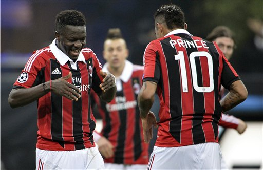 Milan turns to Ghanaian duo for derby win over Inter